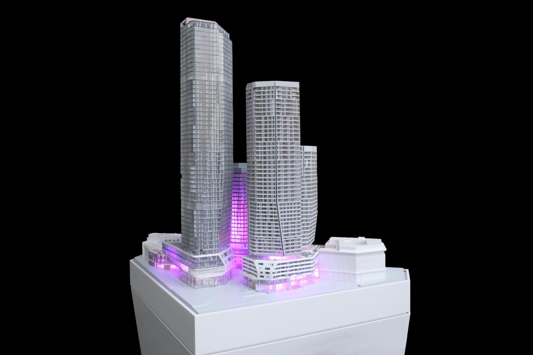 FOUR Frankfurt Architekturmodell von werk5, 2017
