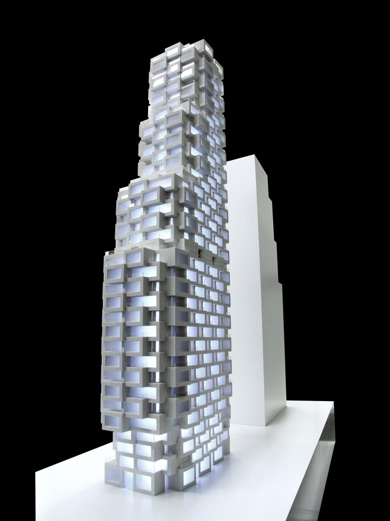 Architekturmodell Helix Innovation der Norra Tornen in Stockholm